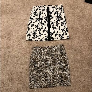 Two patterned pencil skirts!